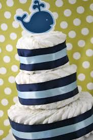 single layer diaper cakes shes kinda crafty