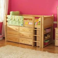 Bunk Beds With Dresser Maxtrix Low Loft Bed With Dresser And Bookcase