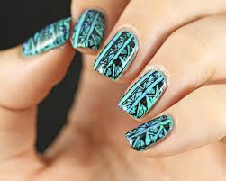 copycat claws tribal nail stamping with picture polish chillax