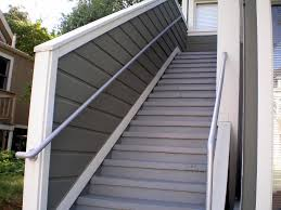 Handrails For Outdoor Steps Simplistic Patio Stainless Steel Handrail With Concrete Outdoor