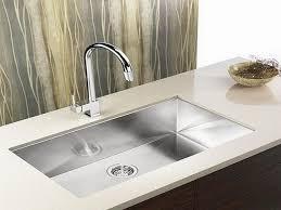 Stainless Kitchen Sinks Undermount Stainless Steel Kitchen Sink Undermount To White Quartz Countertop
