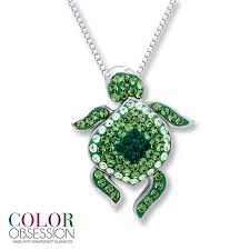 kay jewelers charms kay turtle necklace swarovski elements sterling silver
