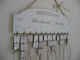 personalised family birthday reminder wooden plaque board
