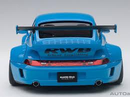 rwb porsche blue autoart 78152 1 18 porsche rwb 993 blue with gun grey wheels ebay
