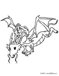 dragon saving princess coloring pages hellokids