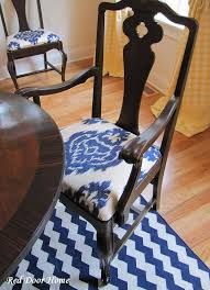 Recovering Chairs Red Door Home How To Cover A Dining Room Chair
