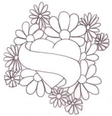 tattoo flower drawings floral heart tattoos flower tattoo drawing designs tatoos