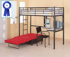 loft bunk bed with futon and desk bell home