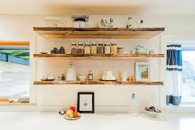 open shelving open shelving to organize kitchen with touch of visual flair ideas