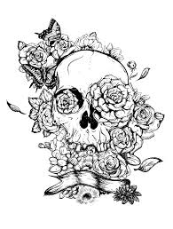 skulls and roses coloring pages 6237