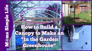 how to build a canopy to make an