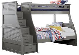 belmar gray 4 pc twin full step storage bunk bed bunk loft beds