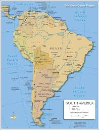 North America Physical Map Political Map South America Roundtripticket Me