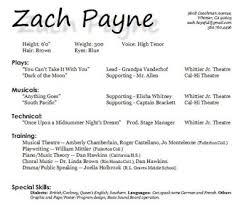 musical theatre resume examples singer resume sample sample