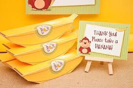 piggy bank party favors market monday bananas for you baby curious george piggy banks