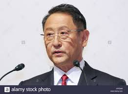 motor corporation toyota motor corporation president akio toyoda speaks during a