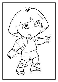 dora the explorer color pages princess dora coloring pages to