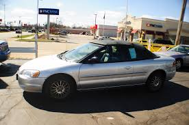 2004 chrysler sebring silver convertible used sale