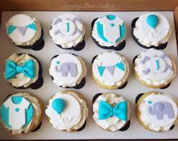 baby boy shower cupcakes baby shower cupcake etsy