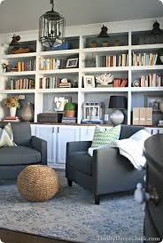 White Bookcase With Storage Revamping Dining Room Into Comfy Seating Area Diy Built Ins With