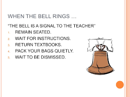 class bell rings images Powerpoint on class rules jpg