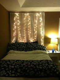 Bed Headboard Lights Best 25 Curtain Headboards Ideas On Pinterest Diy Headboard