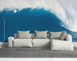 decals and stickers the gadget flow get that amazing still effect of the ocean at home through this deep blue wave wall