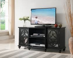 glass cabinet doors for entertainment center 47 black wood entertainment center tv console stand with glass