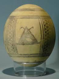 painted ostrich egg phoenician painted ostrich egg picture of hixenbaugh ancient
