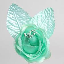 mint green corsage mint green satin roses corsage boutonniere supplies floral