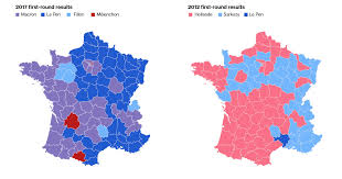 Election Map 2012 by Macron And Le Pen Are Looking At Two Different Versions Of France