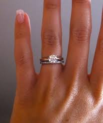wedding band with engagement ring wedding bands for a solitaire engagement ring b wedding bands