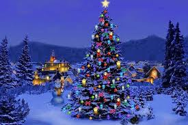 christmas tree with lights christmas tree lights happy holidays