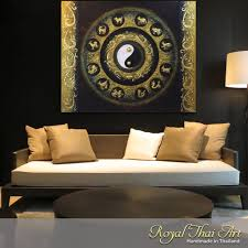 Paintings For Living Room by Contemporary Painting Yin Yand And Zodiacs Royal Thai Art