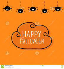 cute happy halloween pictures cute cartoon spider on the web halloween card royalty free stock