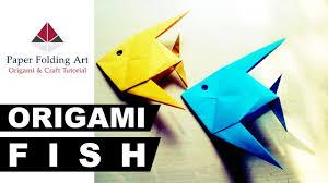 simple origami fish easy paper fish make tutorial kids toys