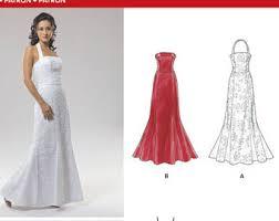 wedding evening dress formal dress pattern etsy