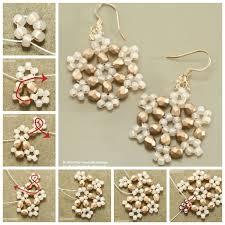 creative ideas diy beaded snowflake earrings