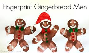 diy fingerprint gingerbread man craft for kids crafty morning