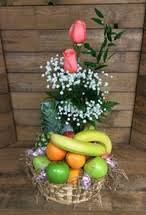 fruits and blooms basket country basket in bloom centerville florists
