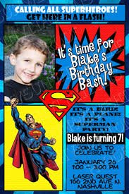 2nd Birthday Invitation Card Superman Birthday Invitations U2013 Gangcraft Net