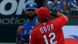 other rougned odor punches jose bautista benches clear in blue