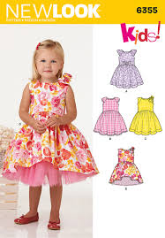 new look 6355 toddlers dress with length variations