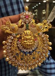 necklace pendant designs gold images Elegant gold peacock stone pendant design indian jewelry jpg