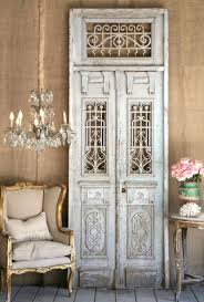 Salvaged French Doors - salvaged doors via the painted drawer interior design
