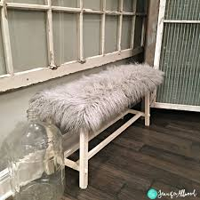 Covered Garage Diy Fur Covered Bench Recovering A Plain Bench Magic Brush