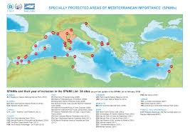 Mediterranean Sea World Map by Spamis Regional Activity Centre For Specially Protected Areas