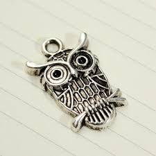 owl necklace silver images 30pcs mixed vintage tibetan silver owl necklace pendant charm diy jpg