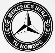 patch embroidery mercedes benz your name 17cm los parches