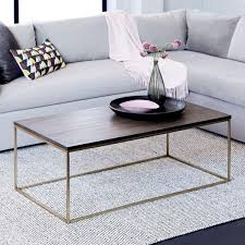 streamline coffee table umber antique brass west elm uk